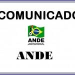 COMUNICADO ande